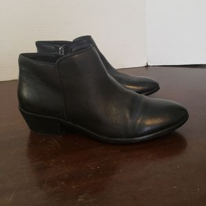 Sam Edelman Black Petty Leather Ankle Boots